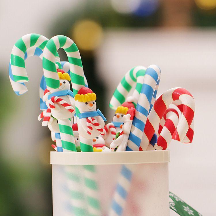 儿童节礼物圣诞老人笔 可爱圣诞笔 毛绒圣诞笔 圣诞节送礼佳品