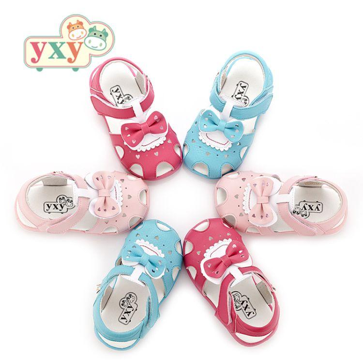 YXY童鞋真皮软底学步鞋凉鞋女宝宝防滑透气公主鞋婴幼儿鞋1-2-3岁