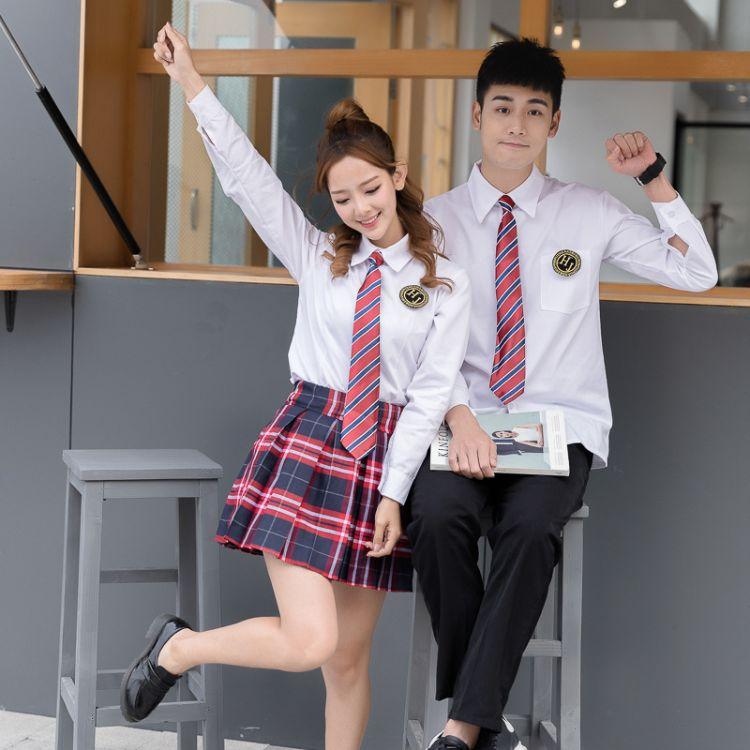 学院风男女学生校服合唱演出服运动会班服初高中生毕业照服装C242