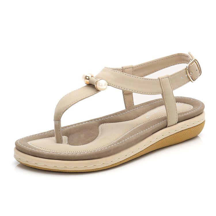 速卖通热销人字罗马鞋松糕厚底女式凉鞋2019夏季新款女式单鞋时尚