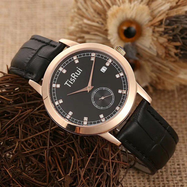 天锐TisRui 手表男 不诱钢材质手表男 时尚非主流皮带表 礼品