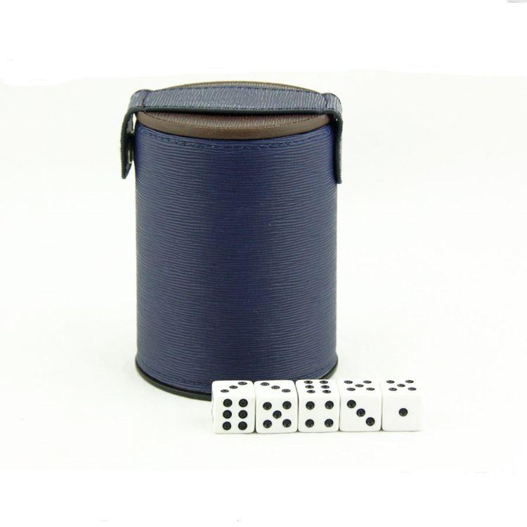 厂家定制皮革骰盅 带盖筛盅 双层色盅 有盖甩盅 可定制LOGO