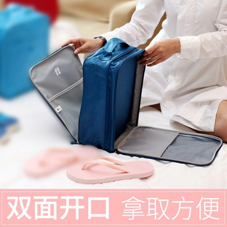 韩版个性手提大容量双面开牛津布鞋袋 旅行户外出差收纳包鞋包订
