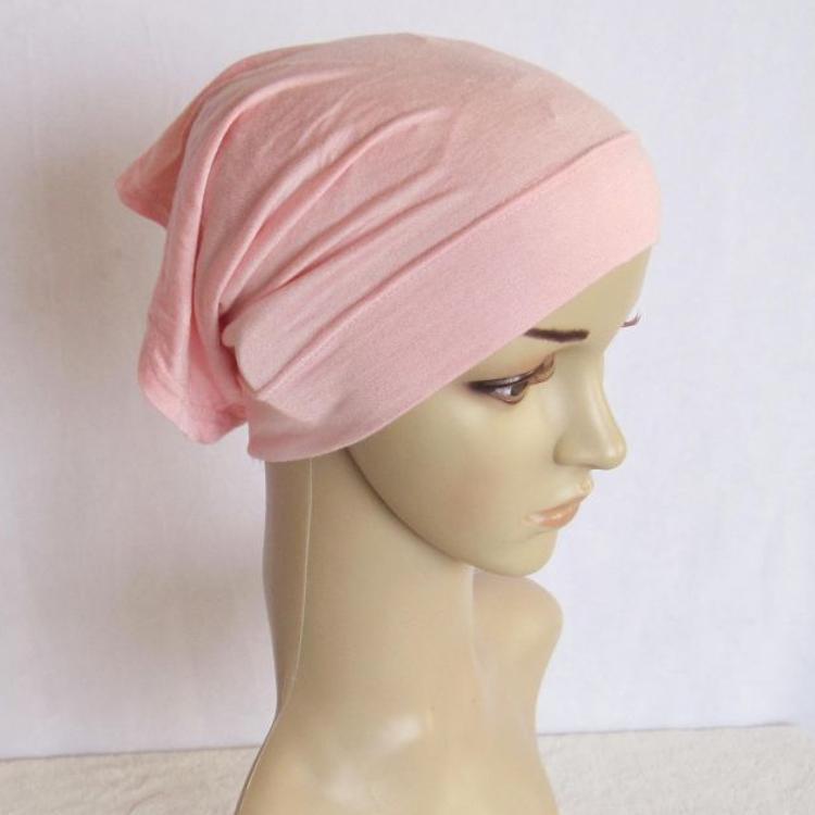 圆筒汗布 现货 穆斯林打底帽帽子 纯色女帽 民族厂家直销批发