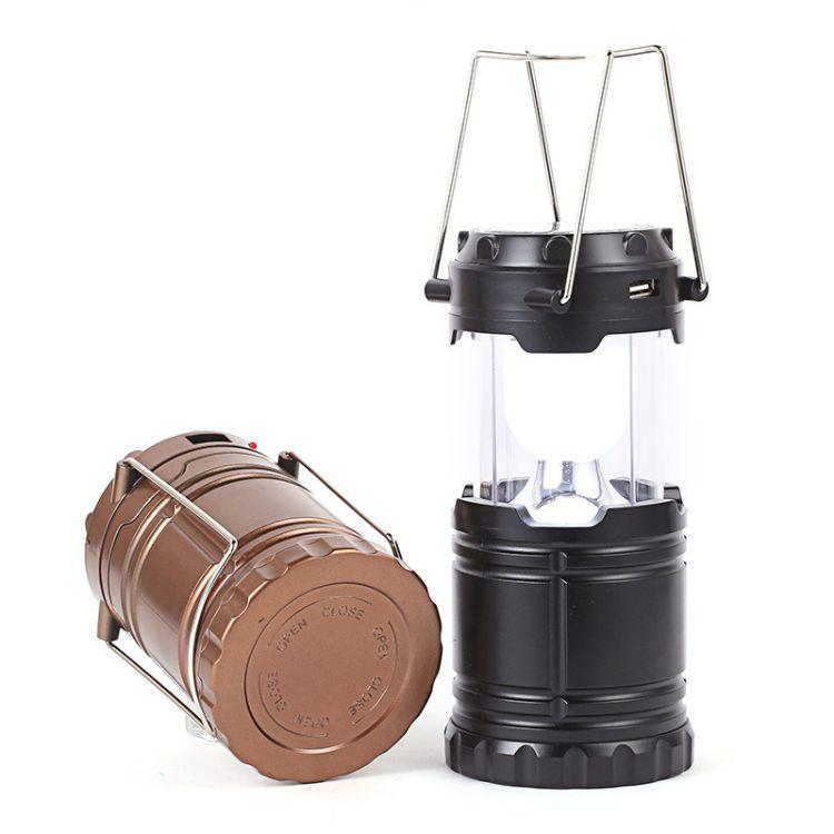 爆款马灯LED太阳能充电露营野营灯 户外手提应急灯伸缩野营灯