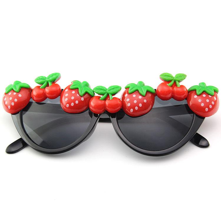 新款舞会party装饰太阳镜 草莓猫眼款眼镜 夏威夷风格装饰墨镜