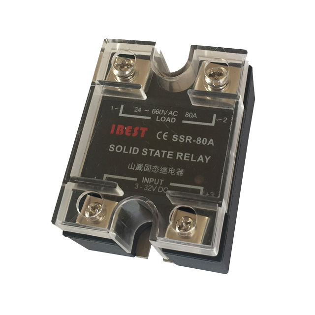 80A单相交流固态继电器SSR-80DA/AC220V/380V/480V  山崴生产厂家