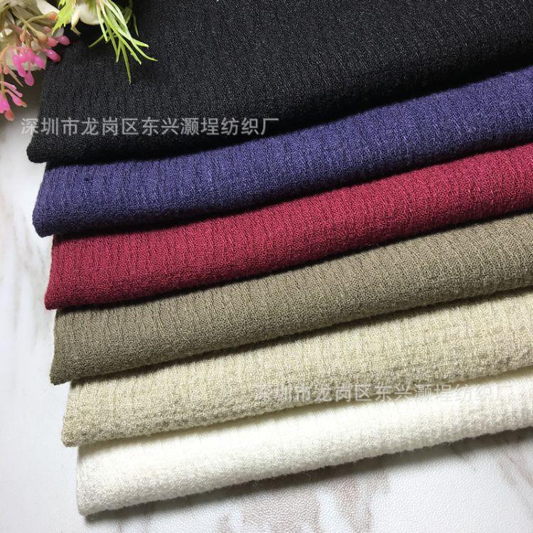 厂家直销 亚麻棉树皮绉  秋冬连衣裙上衣棉麻布料 提花