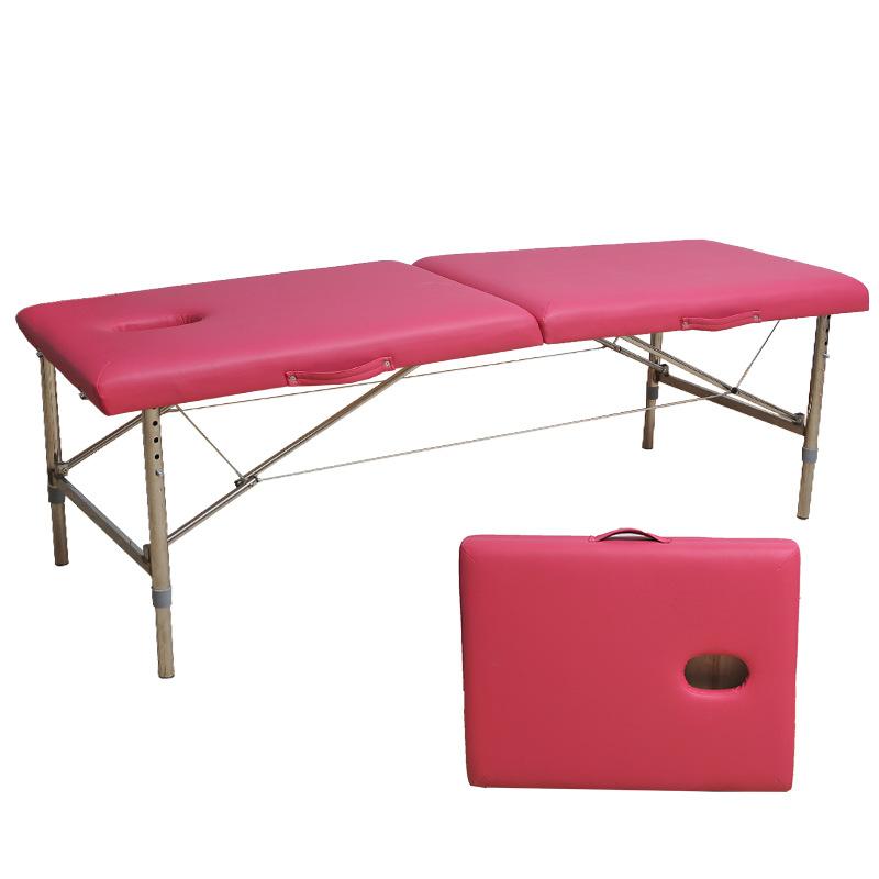 不锈钢便携式折叠按摩床 温灸床 美容床 spa理疗床 各种颜色