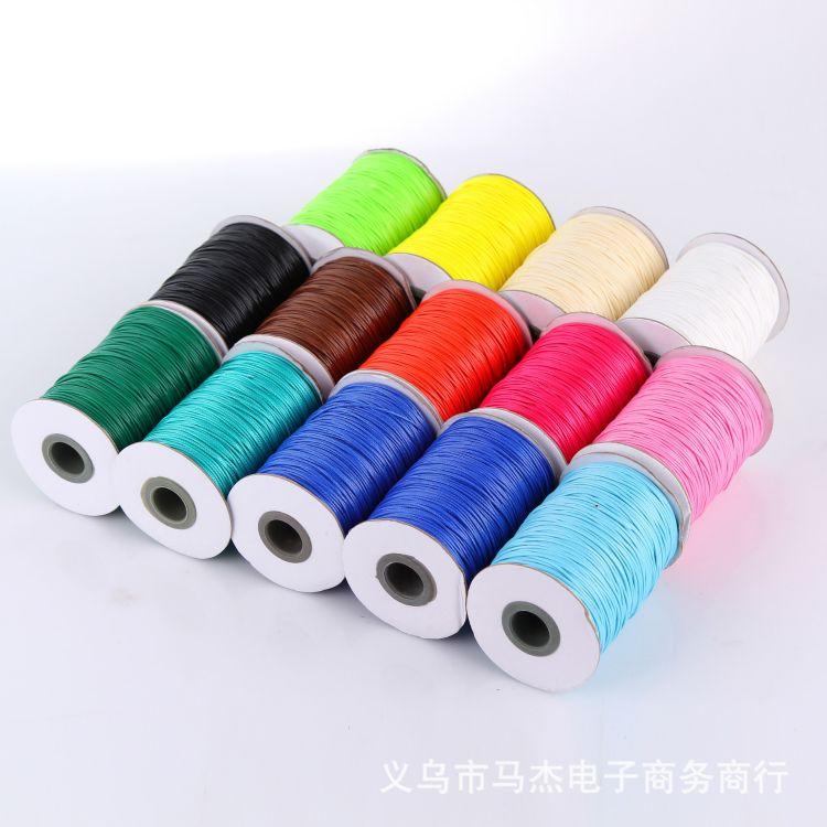 厂家直销韩国棉腊绳 DIY手工饰品纺织绳子腊绳批发170米一卷1MM