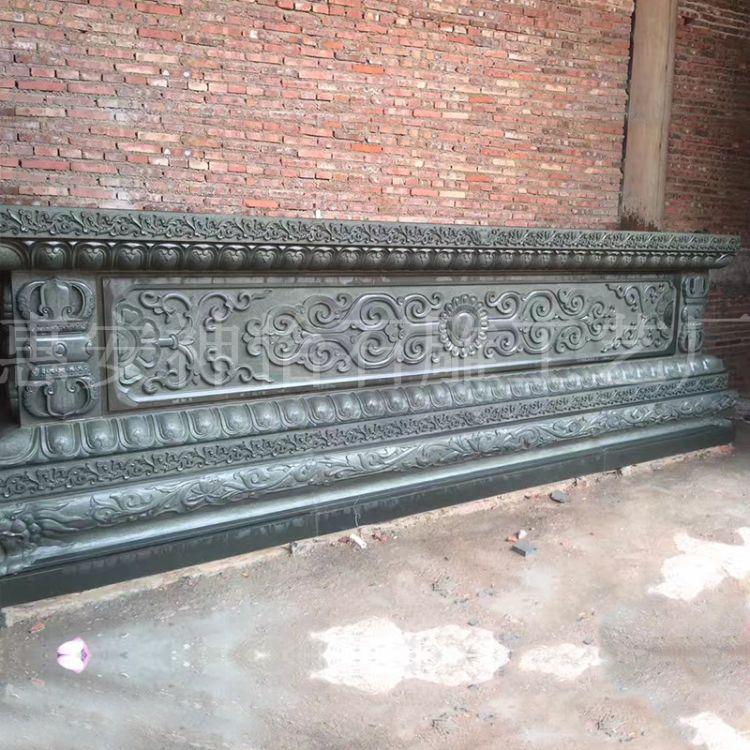 厂家直销石雕供桌 青石寺庙供桌仿古长方形佛龛供台 祭祀供奉案台