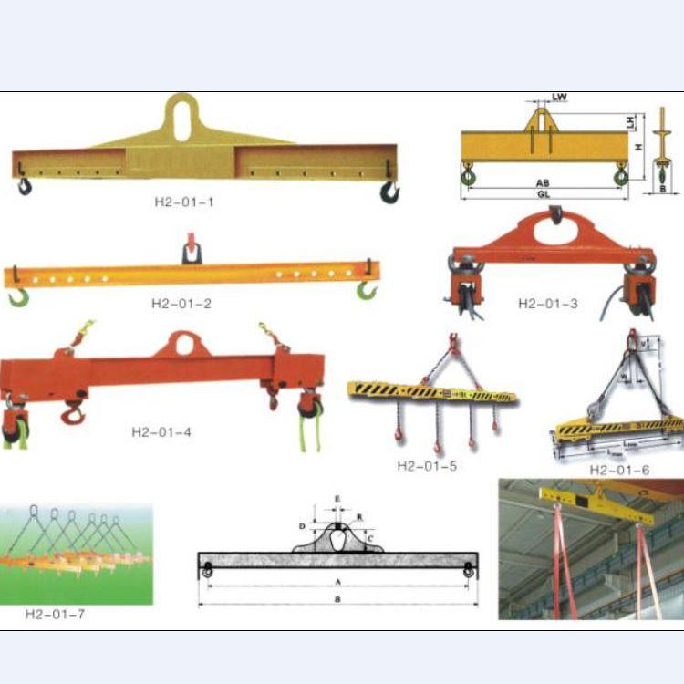 线盘吊具 可调式横梁吊具 H型平衡梁生产厂家 双钩线盘吊梁可定制