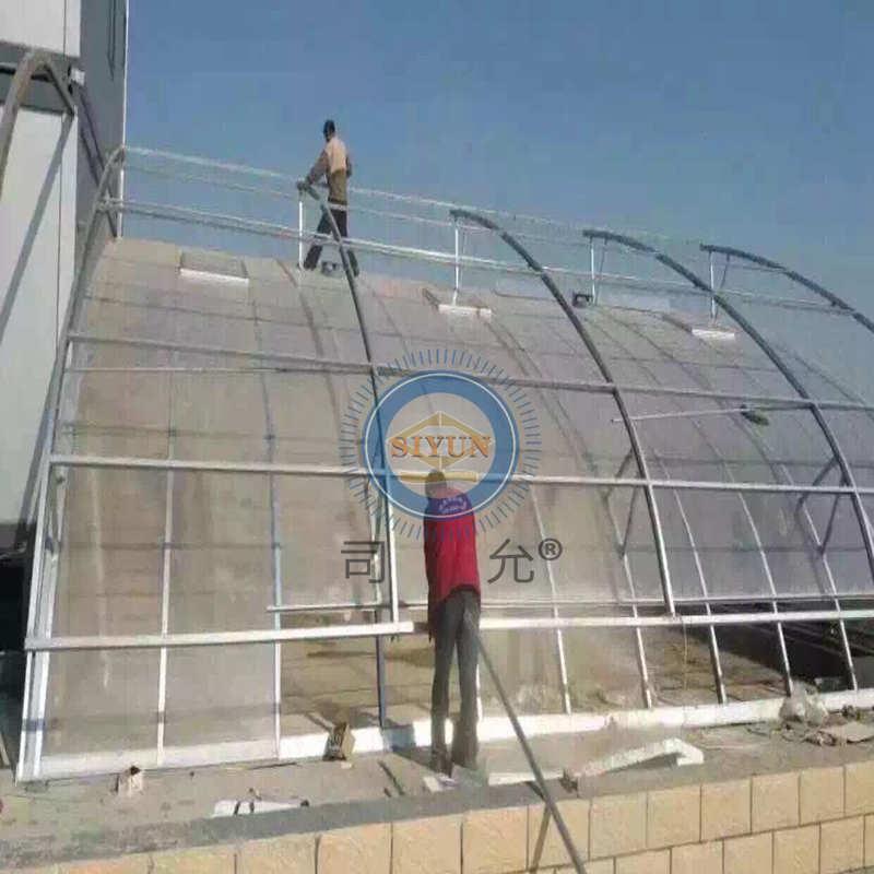 透明pc耐力板 体育馆雨棚PC阳光板 顶棚PC耐力板 湖蓝阳光板 司允