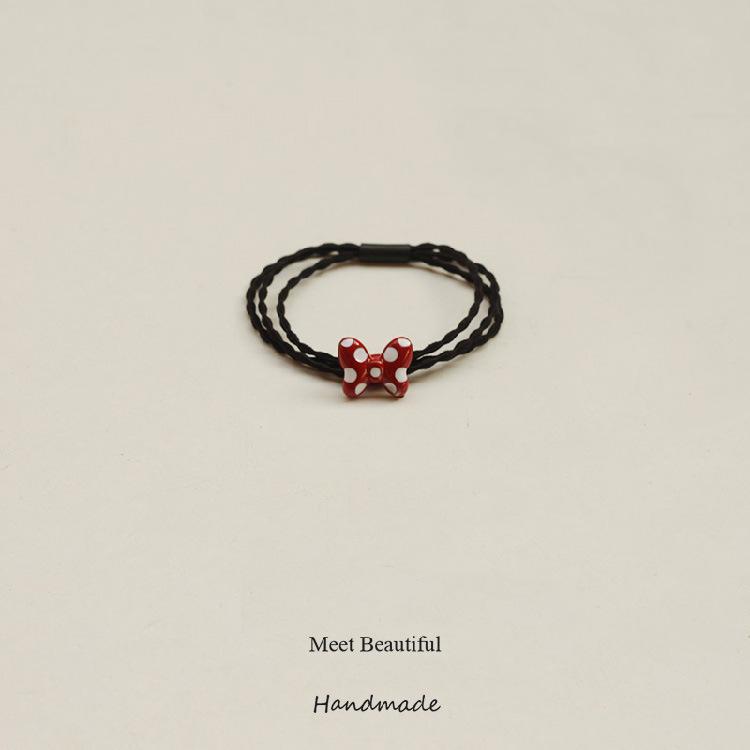 韩国发饰简约个性少女心发圈网红头饰扎头发橡皮筋发绳手链的头绳