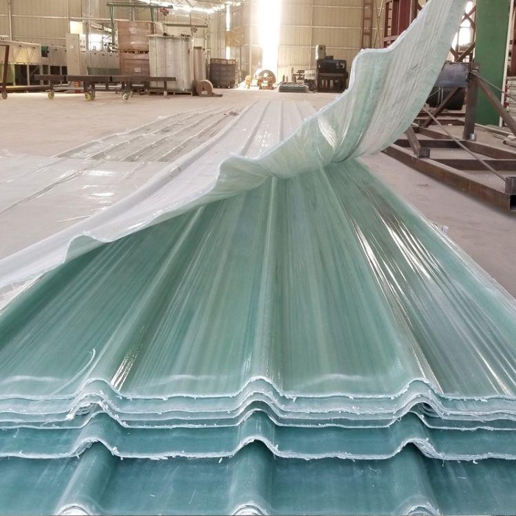 厂房采光板耐力板透明瓦 别墅阳台玻璃钢纤维花场采光遮雨棚瓦