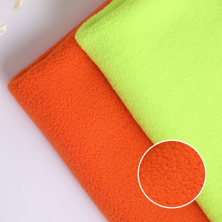 厂家直销 全涤双刷双摇摇粒绒现货 114F染色家居服装玩具摇粒绒布