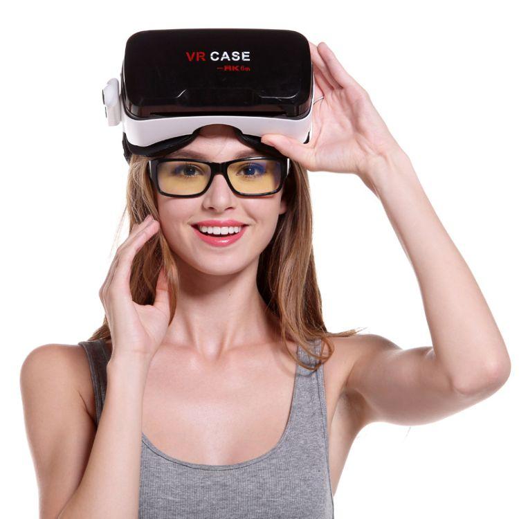 高端VR CASE6代手机3D眼睛 自带遥控虚拟现实 眼镜游戏手柄套装