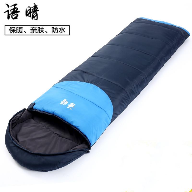 语晴户外便携睡袋成人秋冬季加厚防潮四季露营保暖室内帐篷棉睡袋