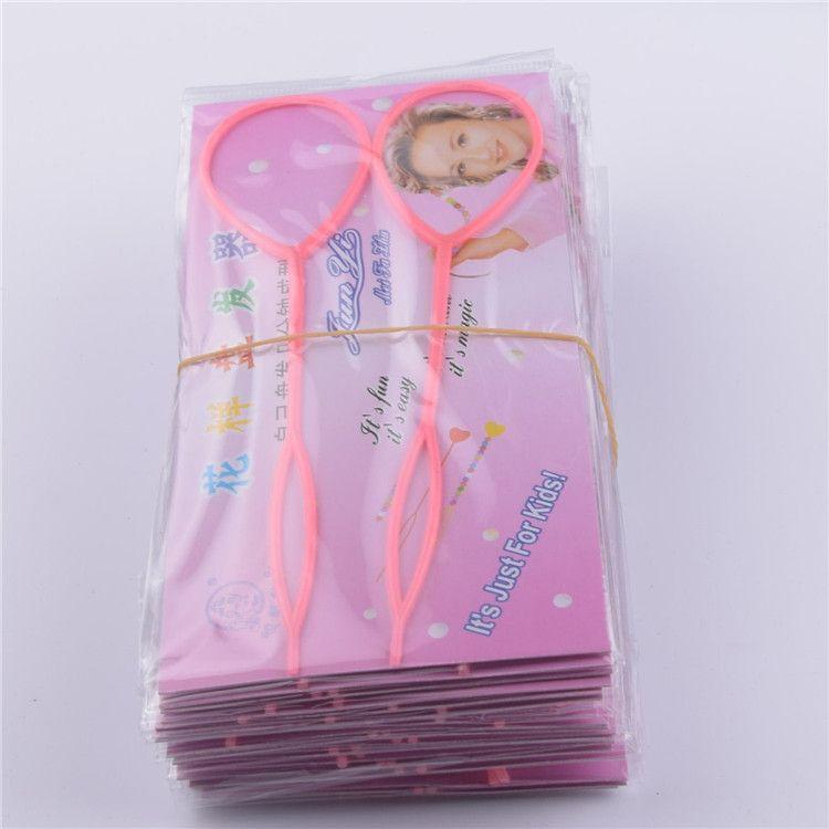 韩式儿童魔力穿发棒穿法针可多次使用拉发针盘发头饰发饰1包2个装
