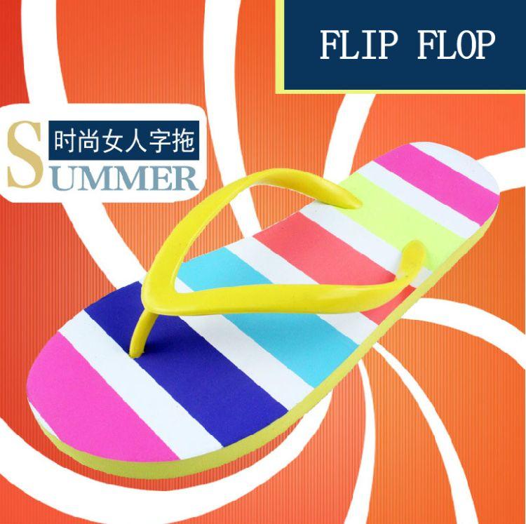 slippers定制女士人字拖平底橡胶发泡商务广告拖鞋丝网印礼品拖鞋