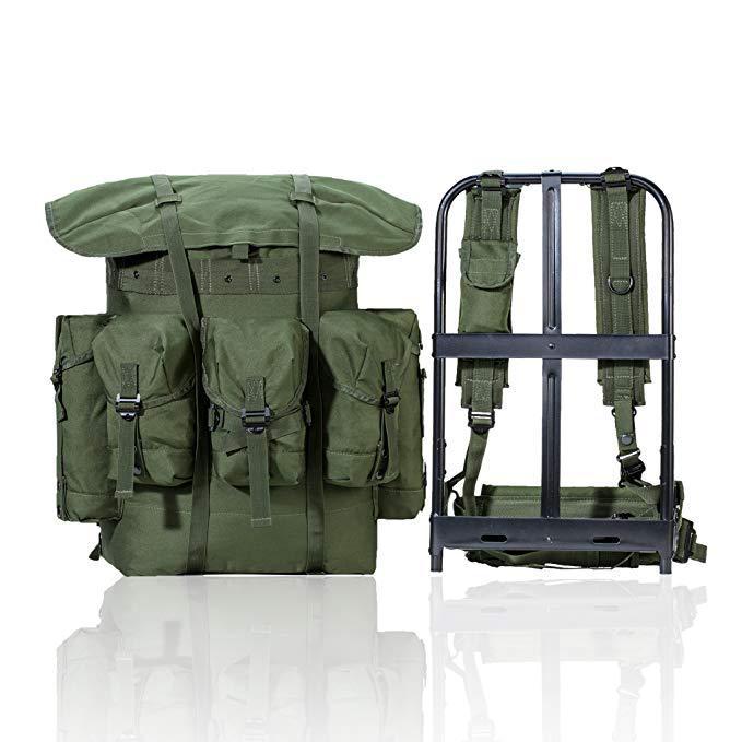 军事训练背包运动背囊携行具带金属支架战术包旅行包迷彩双肩包