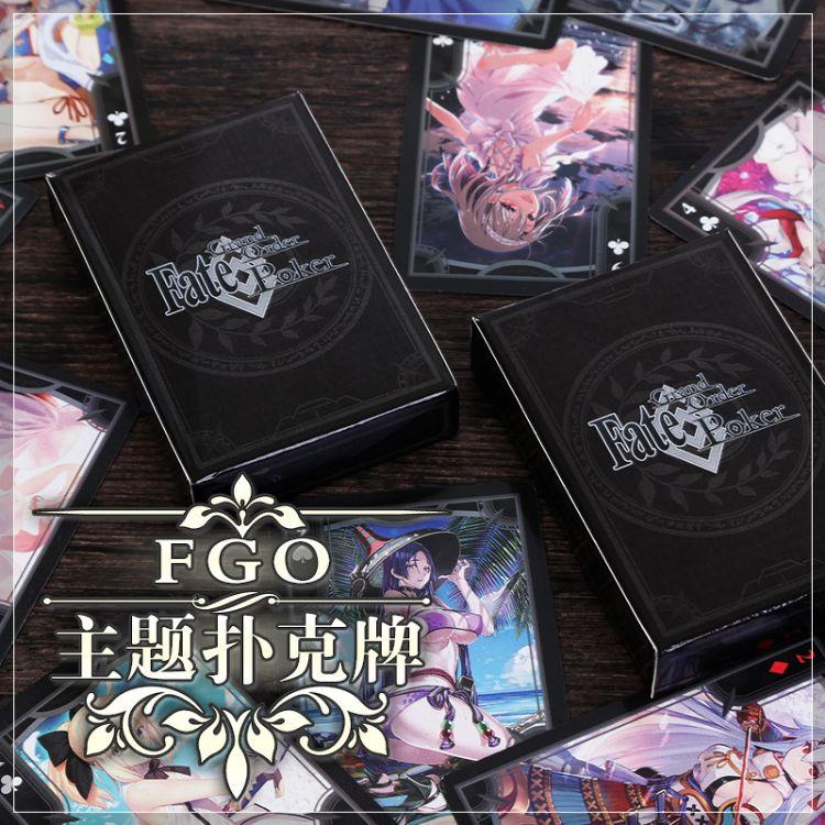 FATE周边saber贞德动漫扑克牌FGO二次元卡牌纸牌桌游