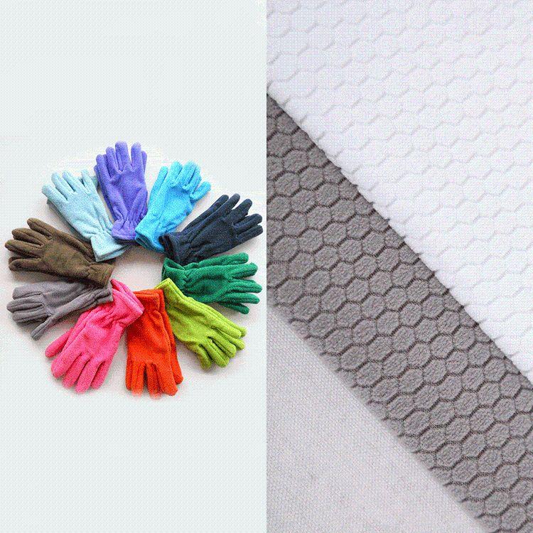 厂家批发 摇粒绒面料 抱枕玩具家纺地毯卫衣布料 粗纺六角提花布