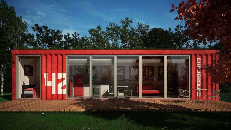 异空间-40尺集装箱房屋酒店-可移动房屋厂家定制