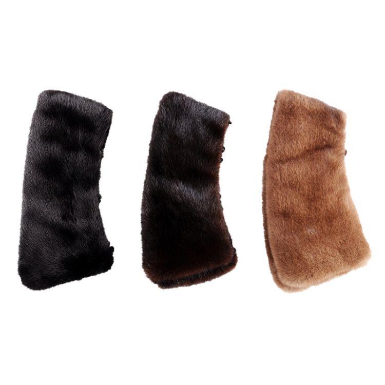 厂家生产进口水貂皮毛领子水貂领通用皮草毛领水貂皮方领一件代发