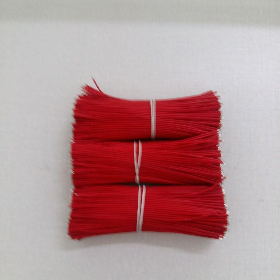 厂家批发1571#28AGW红色黑电子导线320MM LED电子连接线