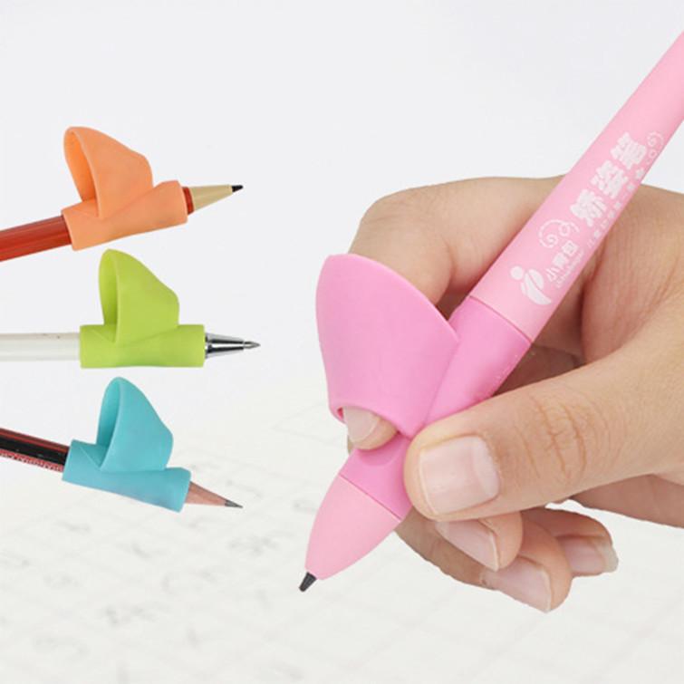 拇指套儿童握笔器矫正器硅胶铅笔套3件套纠正写字神器爆款