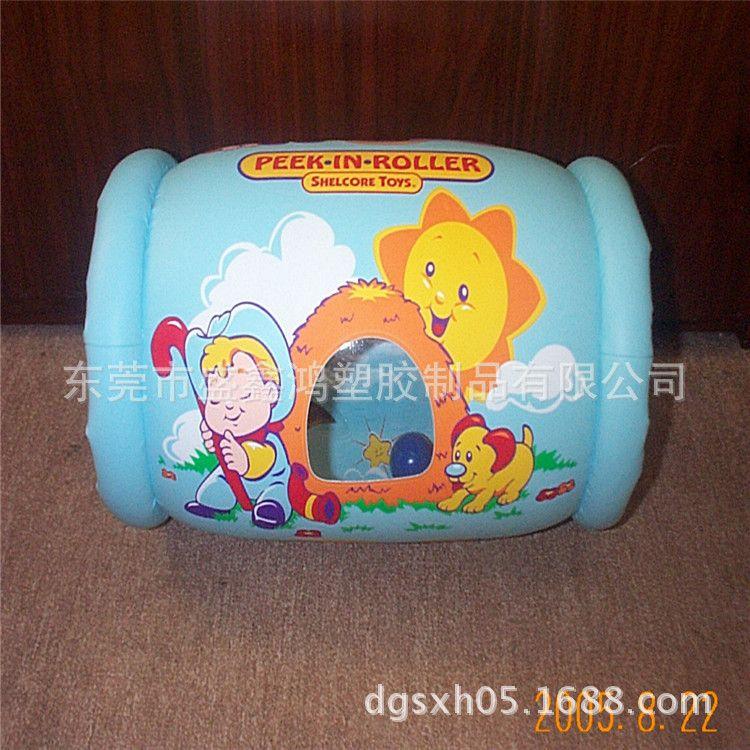 充气圆筒 充气婴儿学习爬行滚筒 PVC充气滚筒 水上玩具滚筒