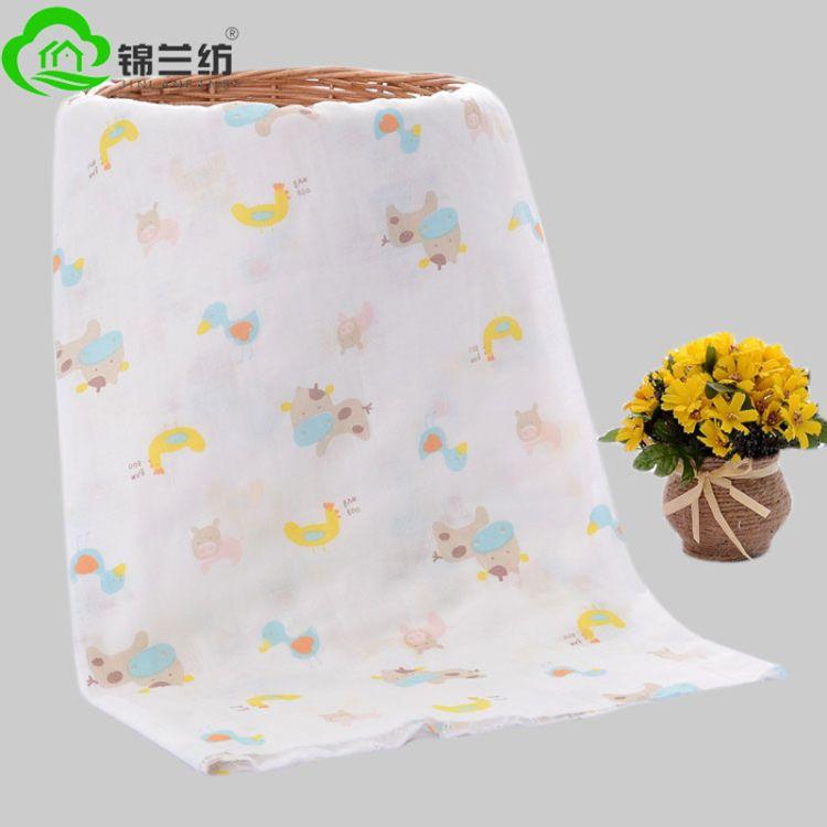 锦兰纺纯棉印花吸水健康母婴用品纱布