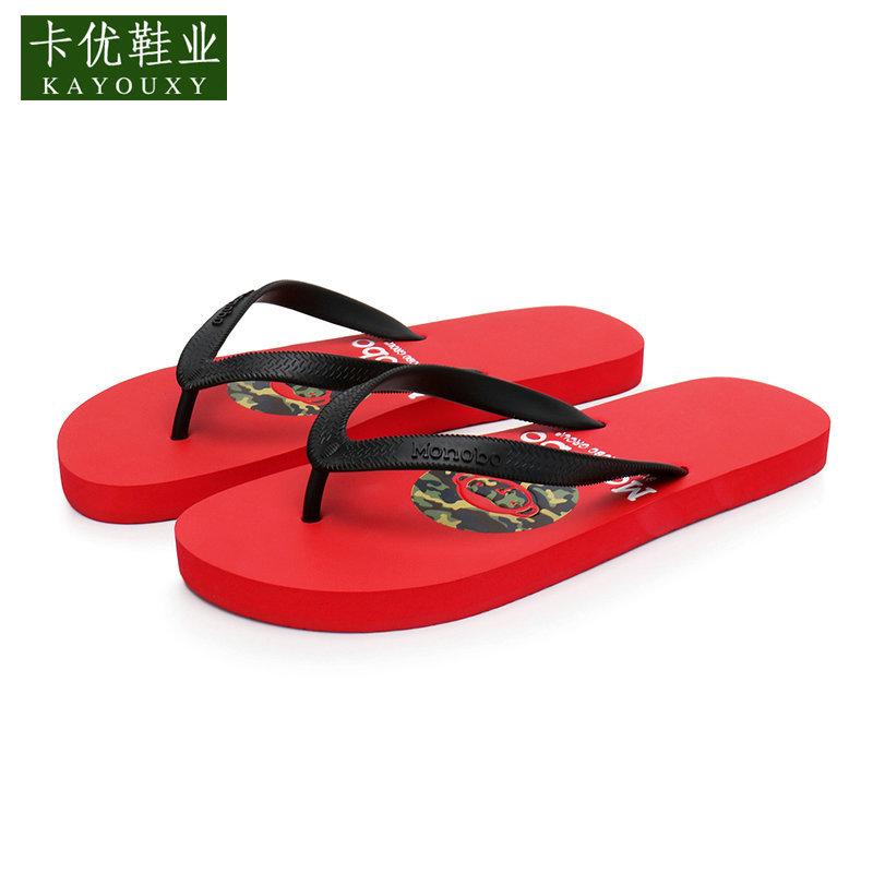 沙滩休闲凉拖鞋男 男士人字拖 防滑沙滩鞋平底凉拖鞋夹趾