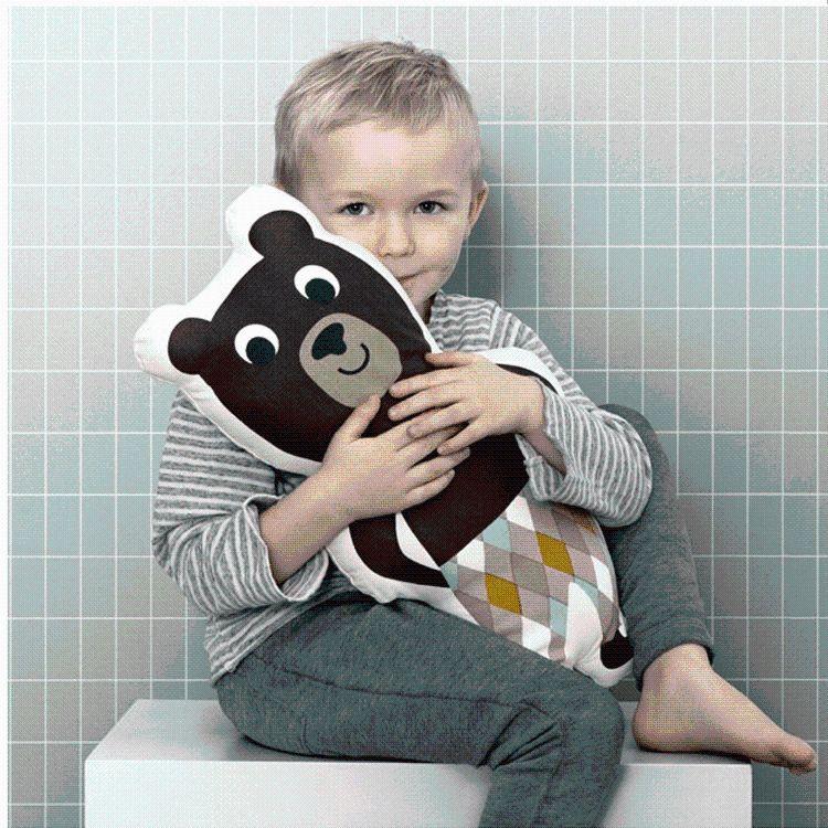 INS玩具熊先生机器人抱枕全棉儿童枕 北欧风布艺玩具靠垫
