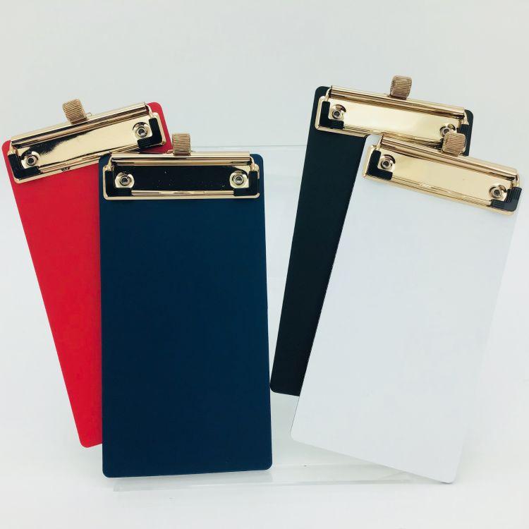 PP发泡 金色带笔插夹子单板夹可夹笔 A4、A5、MINI尺寸 票据板夹
