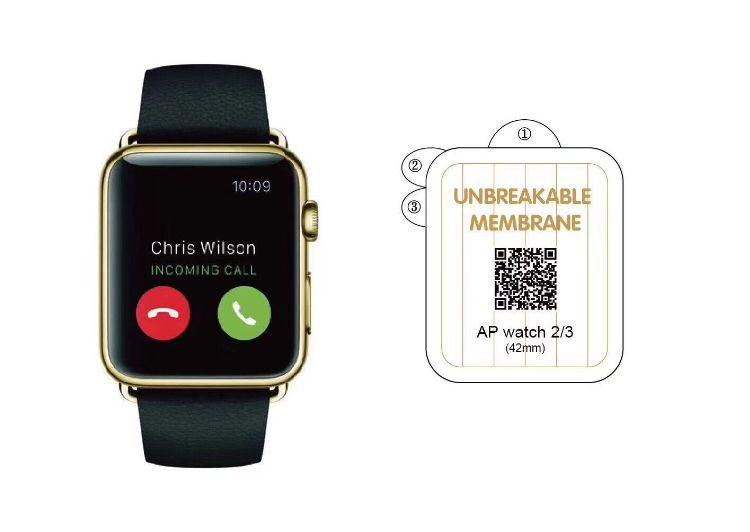 适用apple watch4手表金刚隐形膜 38苹果watch3软膜全屏覆盖44mm