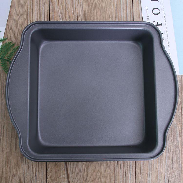带耳正方形面包烤盘 碳钢家庭烘焙烤盘 蛋糕模具