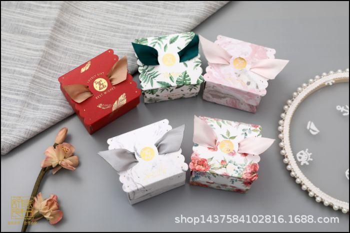 创意结婚用品方形喜糖盒子 中式糖果纸盒喜糖袋 欧式婚庆用品批发