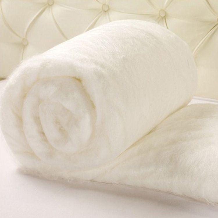 厂家直销榨蚕丝光胎 天然野生柞蚕丝被加工原料批发
