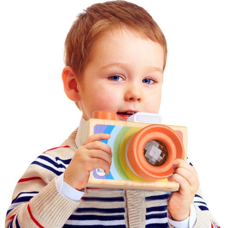 卡通单反相机式万花筒 多棱镜百变蜂眼效果儿童趣味玩具0.15