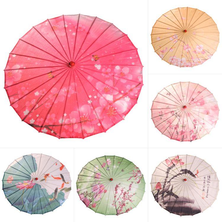 场地布置吊顶装饰防水工艺伞 旗袍舞台表演绸布伞影楼摄影道具伞