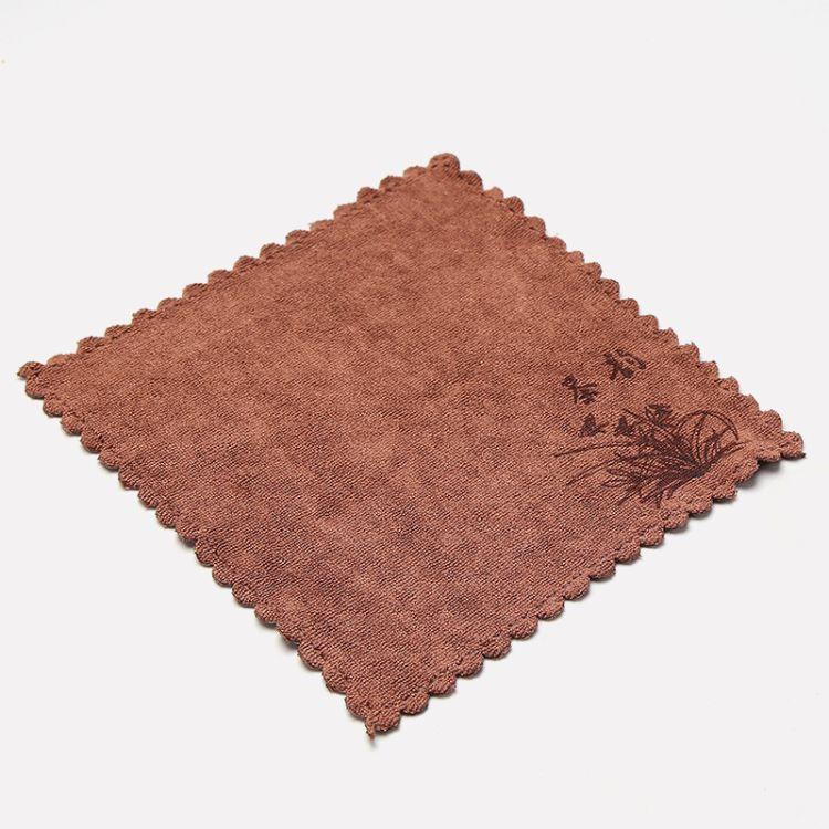 小号茶韵茶巾吸水加厚茶布 茶几茶桌抹布 功夫茶具配件茶台麻布布垫