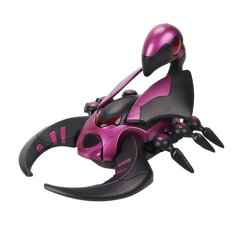 创意儿童玩具仿真蝎子蜘蛛电动灯光万向行走玩具