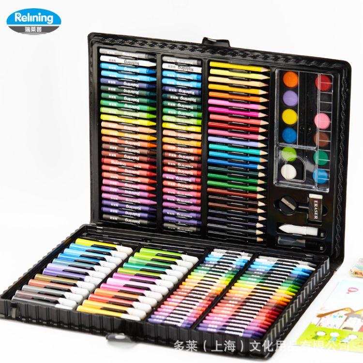 欧洲瑞莱茵儿童绘画水彩笔套装画画工具画笔蜡笔水彩颜料学生奖品