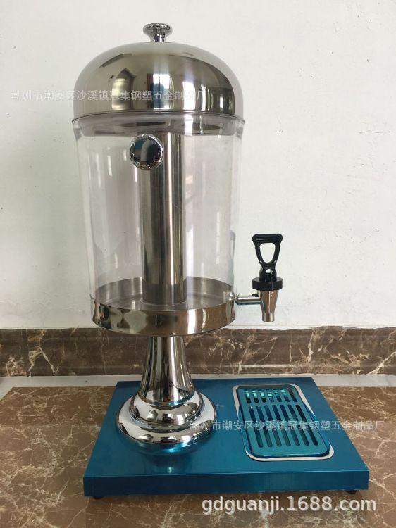 PC桶自助果汁机单缸果汁鼎商用不锈钢冷饮机饮料机