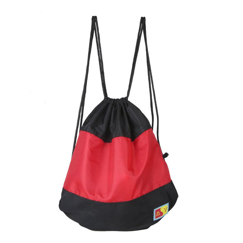 户外骑行双肩包运动篮球抽绳包旅行背袋瑜伽健身折叠包可定制印花