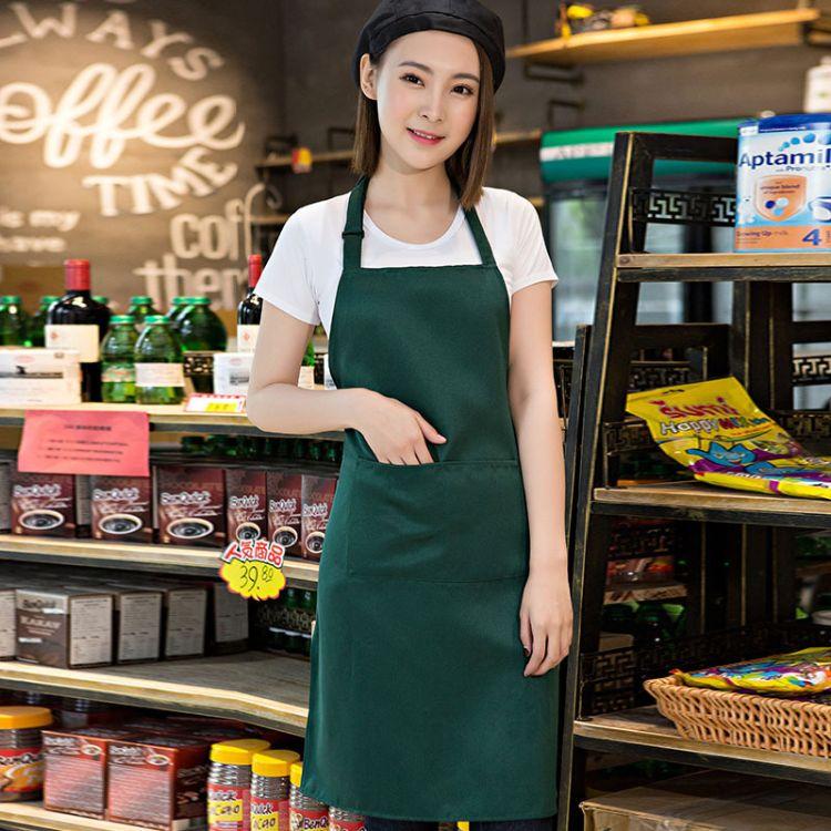 超市菜场水果店大卖场围裙定制logo 绣花印字