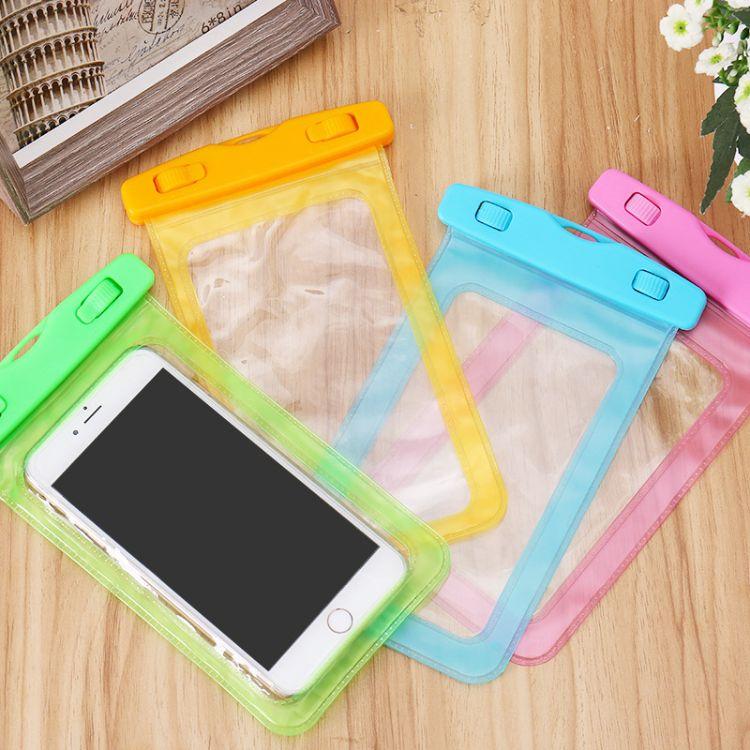 K 水下拍照彩色卡头手机防水袋 苹果6/plus三星通用密封游泳手机