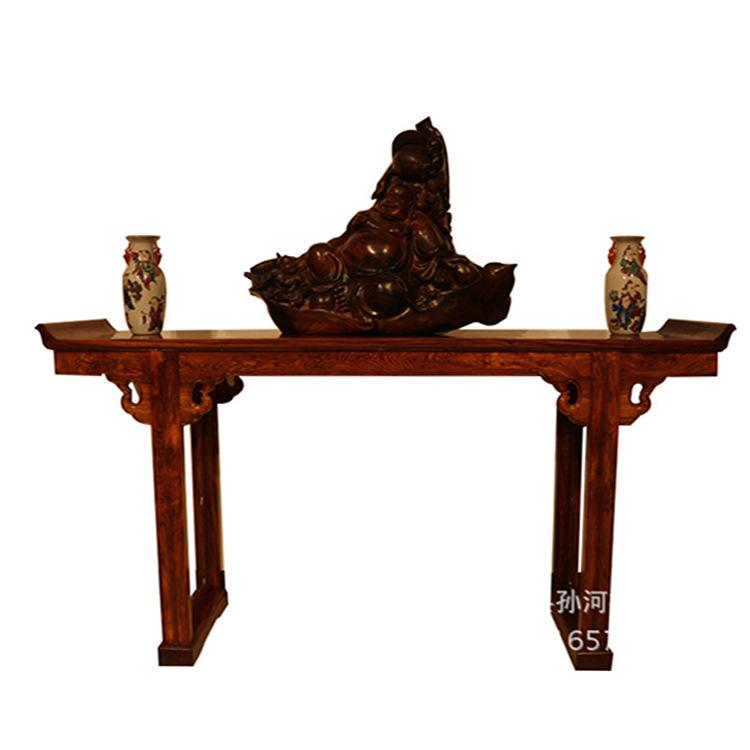 大叶黄花梨供桌 明清仿古家具 中式古典红木条案供桌案台